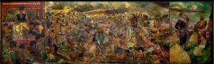 Pertempuran-Sultan-Agung-dan-Jan-Pieterzoon-Coen-1973-Cat-Minyak-diatas-Kanvas-3x10-m-Koleksi-Museum-Sejarah-Jakarta